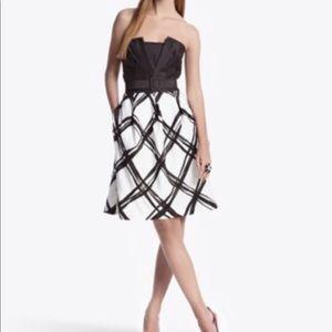 WHBM Silk Shantung Windowpane Silk Dress Size 2